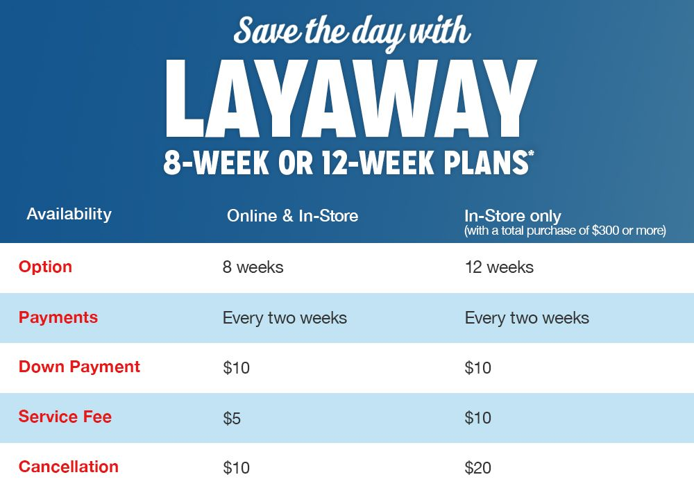 Layaway Options