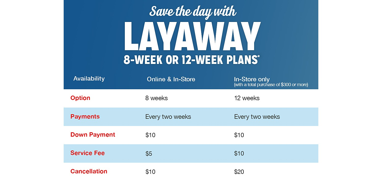 Layaway, which was all but dead a decade ago, is increasingly the competitive weapon of choice for discount retailers. Kmart is wrapping up a no-down-payment layaway promotion for loyalty.