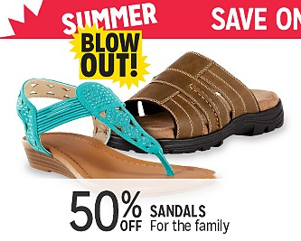 50% OFF Sandals For The Entire Family