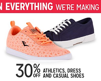 30% OFF Athletic, Dress, & Casual Footwear For The Entire Family