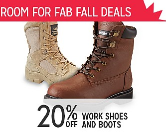 20% OFF Work Shoes & Boots