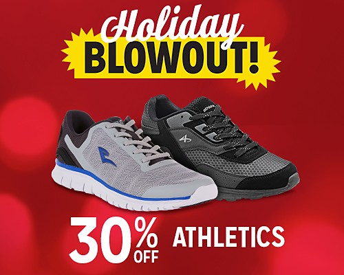 30% off athletic shoes & sneakers