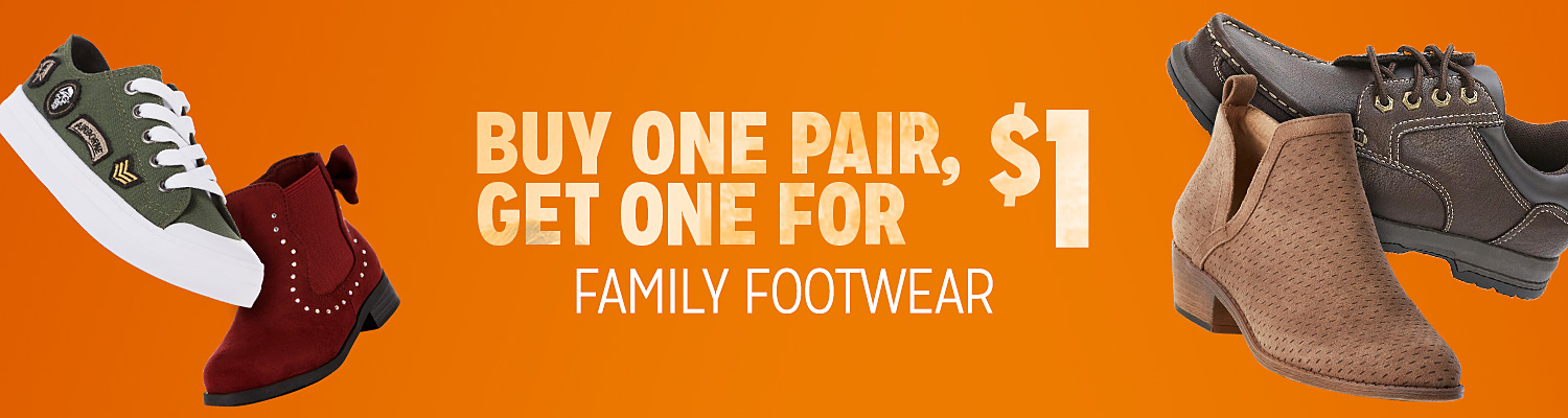 Buy one pair, get one for $1 Family Footwear sold by Kmart