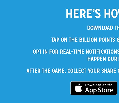 Billion Point Giveaway