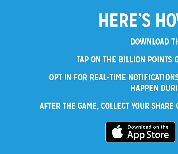 Billion Point Giveaway