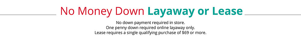 no money down layaway or lease