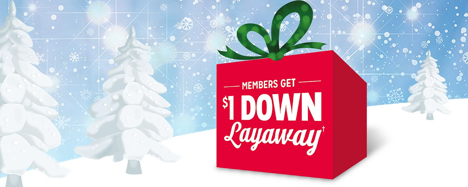 Online layaway is also available for everyday items like clothing, accessories and shoes. You can even shop for kids' toys in our online layaway store, which is perfect for those holiday purchases. Even the biggest buys are affordable with online layaway at Sears.
