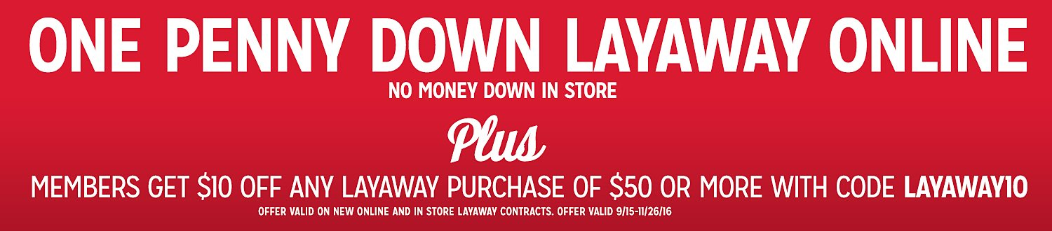 One Penny Down Layaway