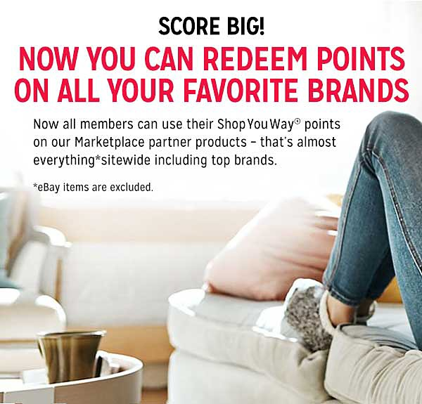 SCORE BIG! NOW YOU CAN REDEEM POINTS ON ALL YOUR FAVORITE BRANDS