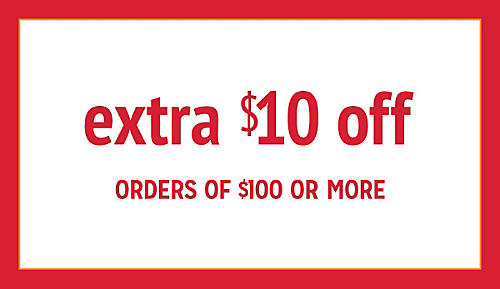extra $10 off $100