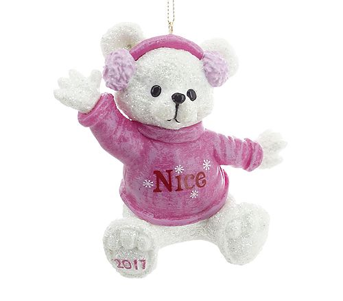 Pink Bear Ornament