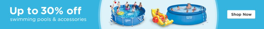 Up to 30% off select pools & accessories