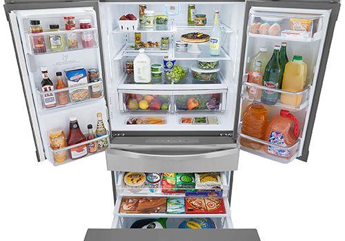 Kenmore Elite 4-Door Bottom-Freezer Refrigerator