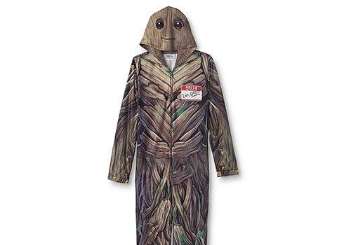 Guardians of the Galaxy Men's One-Piece Fleece Pajamas Groot