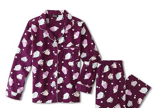 Joe Boxer Juniors' Hot Cocoa Flannel Pajama Shirt & Pants