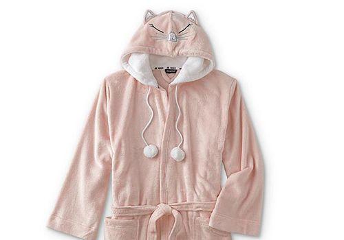Joe Boxer Juniors' Hooded Cat Fleece Robe