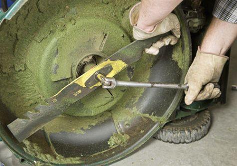 Keep your lawn mower blades sharp