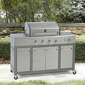 Kenmore 4-Burner LP Gas Grill with Storage