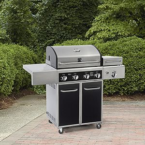 Kenmore 4-Burner LP Gas Grill With Side Steamer