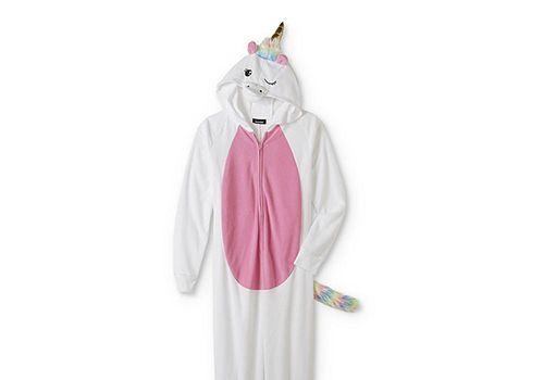 Joe Boxer Women's Hooded Unicorn One-Piece Pajamas