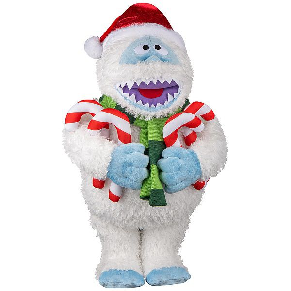 Rudolph the Red Nose Reindeer Holiday Greeter - Bumble with Candy Cane