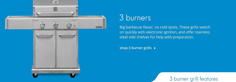 Shop 3 Burner Grills