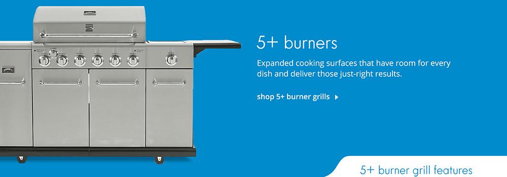 Shop 5+ Burner Grills