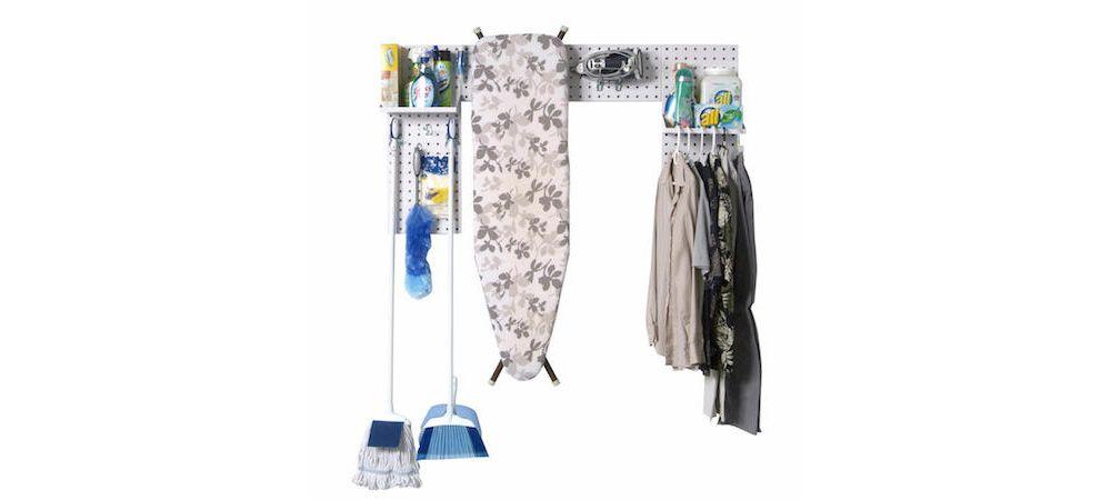 LocBoard white laundry room organizer kit