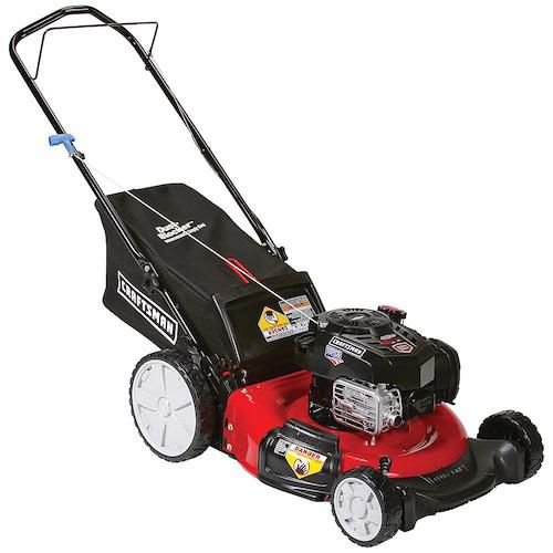 "Craftsman 37471 21"" 163cc Briggs & Stratton 3-in-1 Lawn Mower with High Rear Wheels"