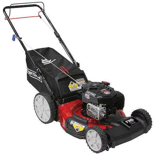 "Craftsman 37705 21"" 163cc Front-Wheel Drive Lawn Mower with High Rear Wheels"