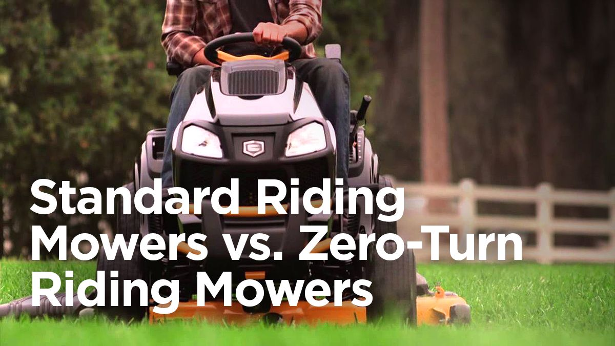 Standard vs. Zero-Turn Riding Mowers
