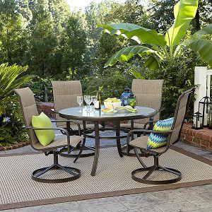 Miranda 5 Pc. Glass Top Outdoor Dining Set