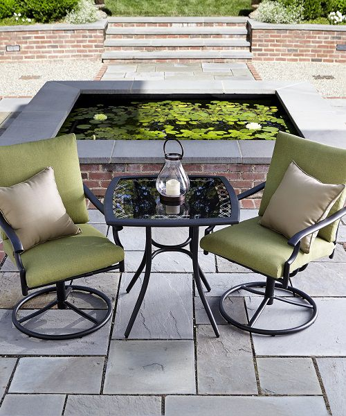 Enjoy a relaxing conversation on the patio
