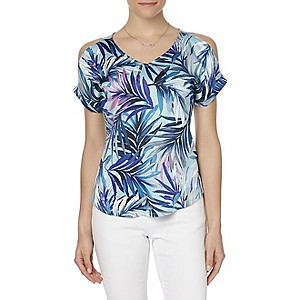 Simply Styled Women's Mixed Media Tees $9.99