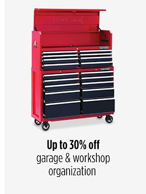 Up to 30% off garage & workshop organization