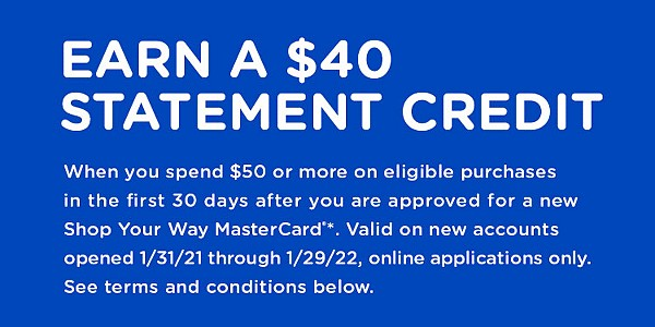 EARN A $40 �STATEMENT CREDIT
