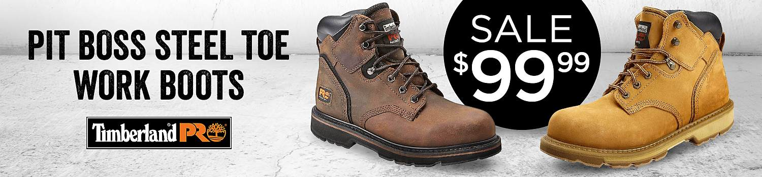 Sale $99.99 Men's Timberland PRO Pit Boss Steel Toe Work Boots