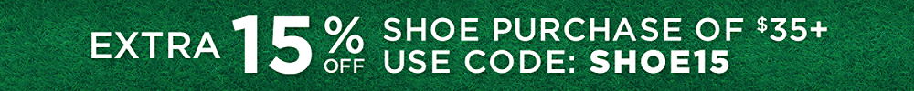 Extra 15% OFF shoe purchases of $35+ with code: SHOE15