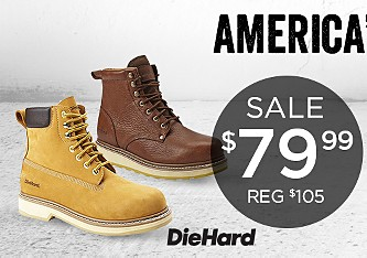 Select men's work boots on sale at $79.99