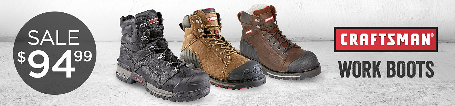 Craftsman work boots on sale at $94.99