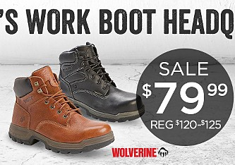 Sale $79.99 Wolverine Work Boots