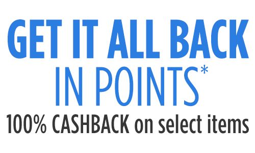 Get 100% CASHBACK on select items