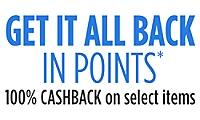 Get 100% CASHBACK in points!