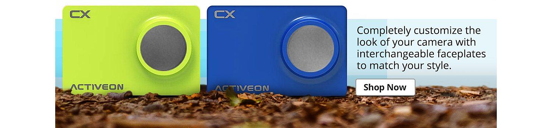 Activeon action camera faceplates