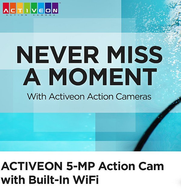 Activeon Action Cameras - Never Miss a Moment