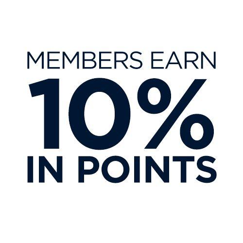 Members earn 10% in points