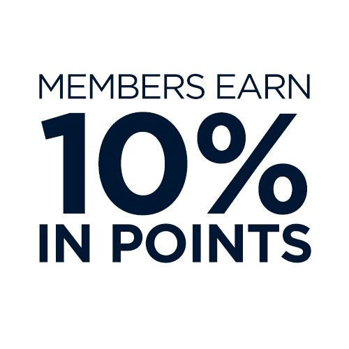 Members earn 10% in points