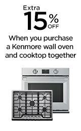 15% off Kenmore wall oven and cooktop