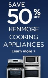 50% off kenmore cooking
