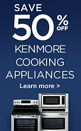 Up to 50% off Kenmore Cookng